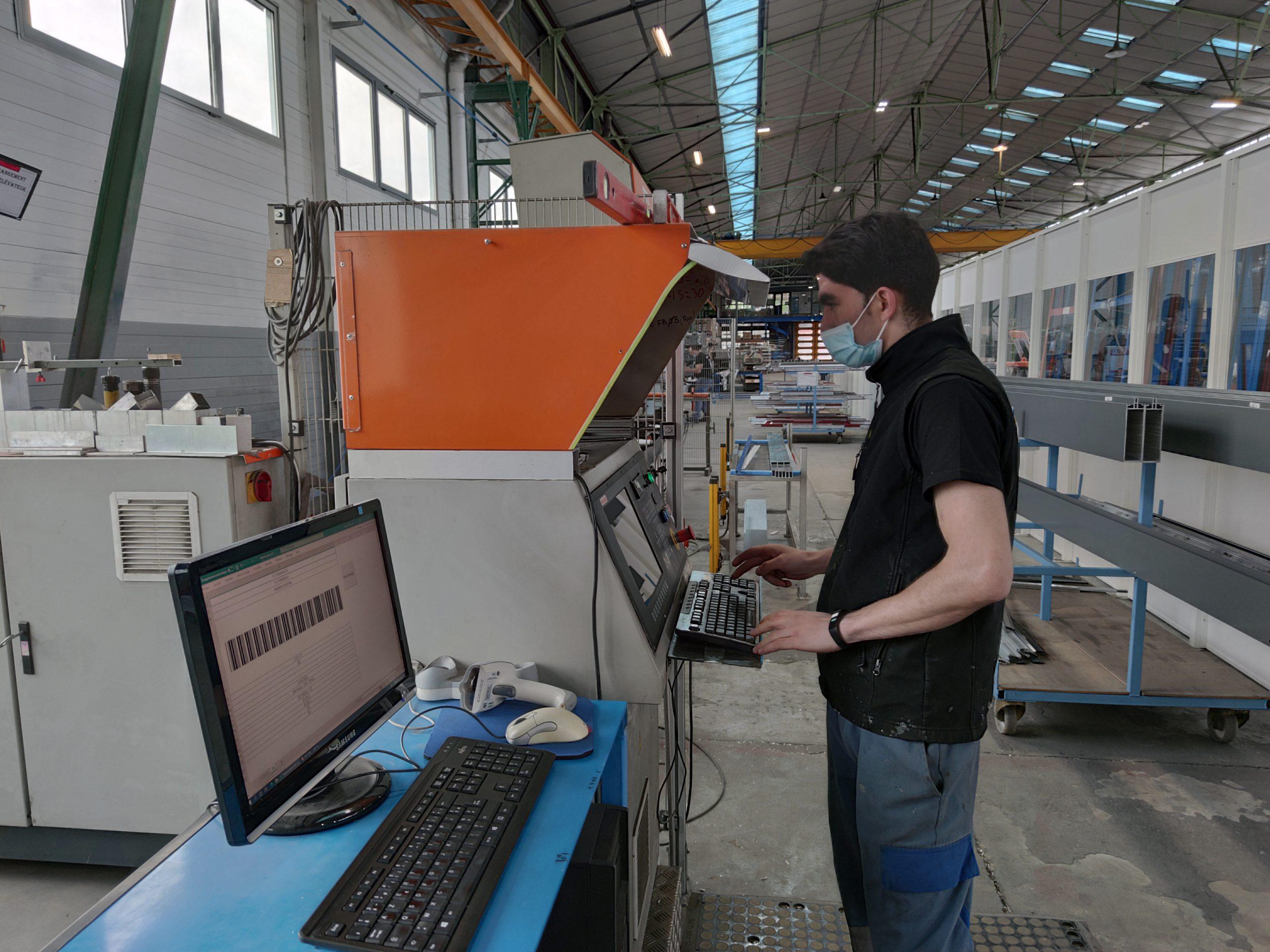 Poste de travail Aluminium